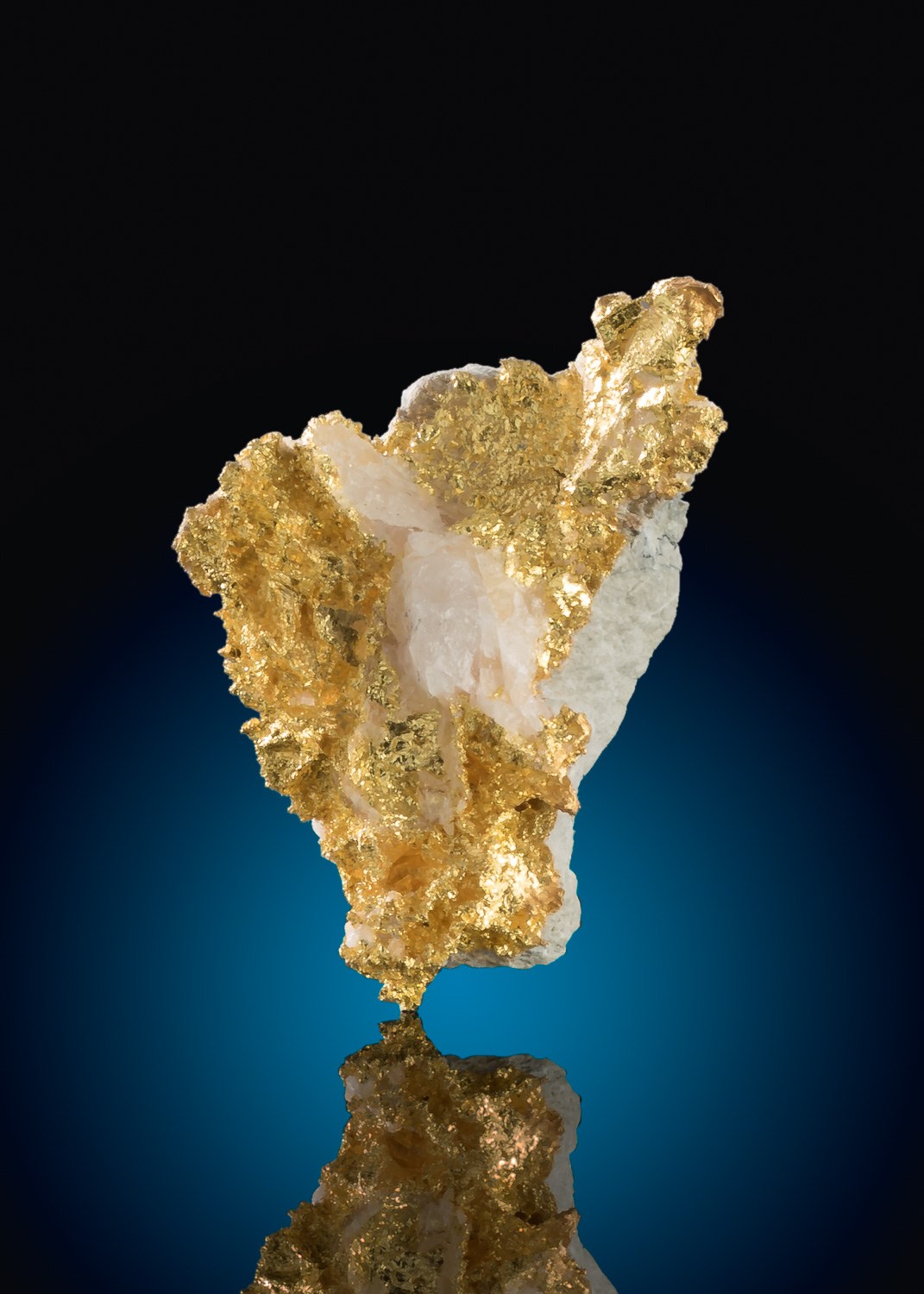Brilliant Yellow Gold in Quartz - Colorado Quartz Gold Mine