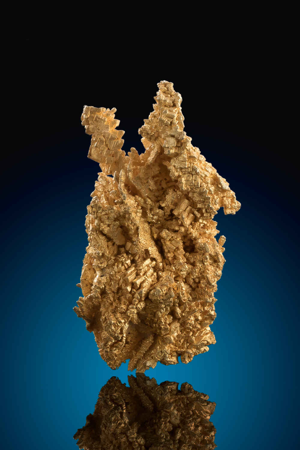 Sharp Stacked Trigon Gold Nugget Crystal - Round Mountain Nevada