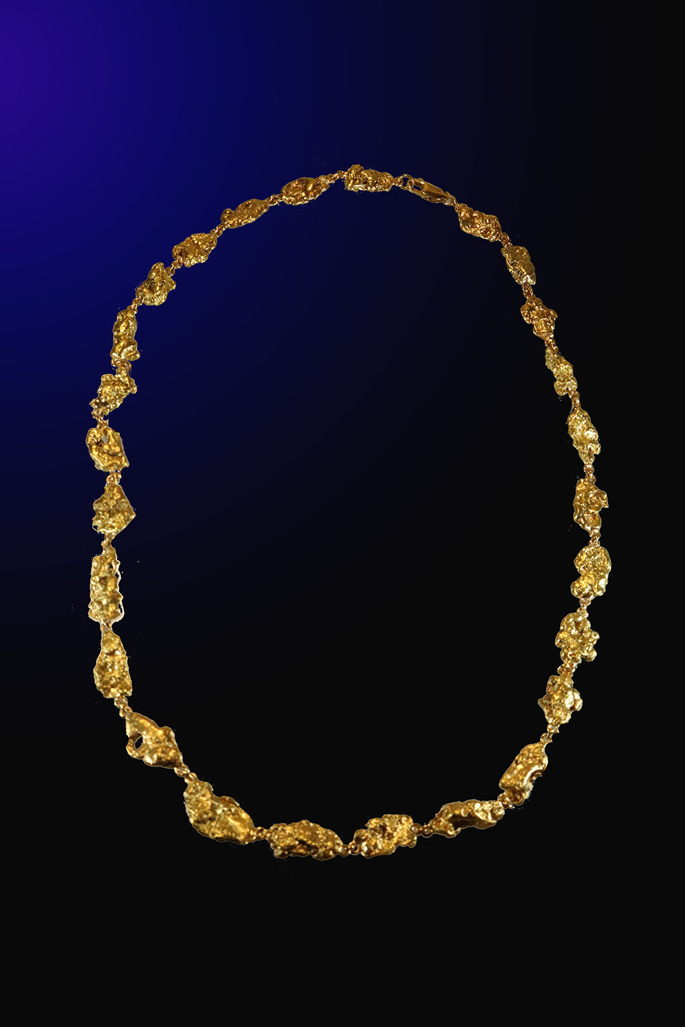 Beautiful 107 Gram Alaska Gold Nugget Necklace - 22.5 inches