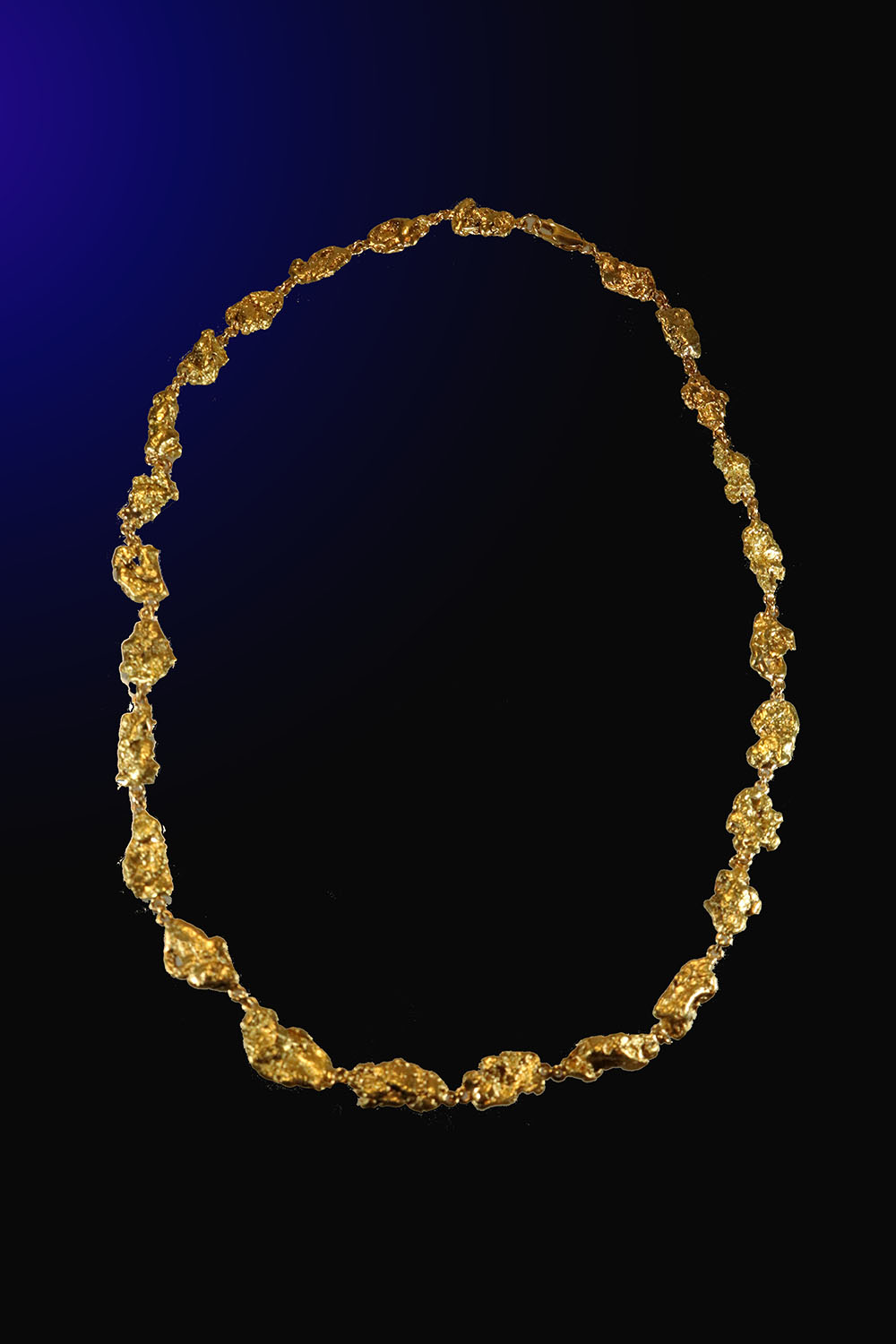 18 inch Custom Made Gold Nugget Necklace - Alaska gold Nuggets
