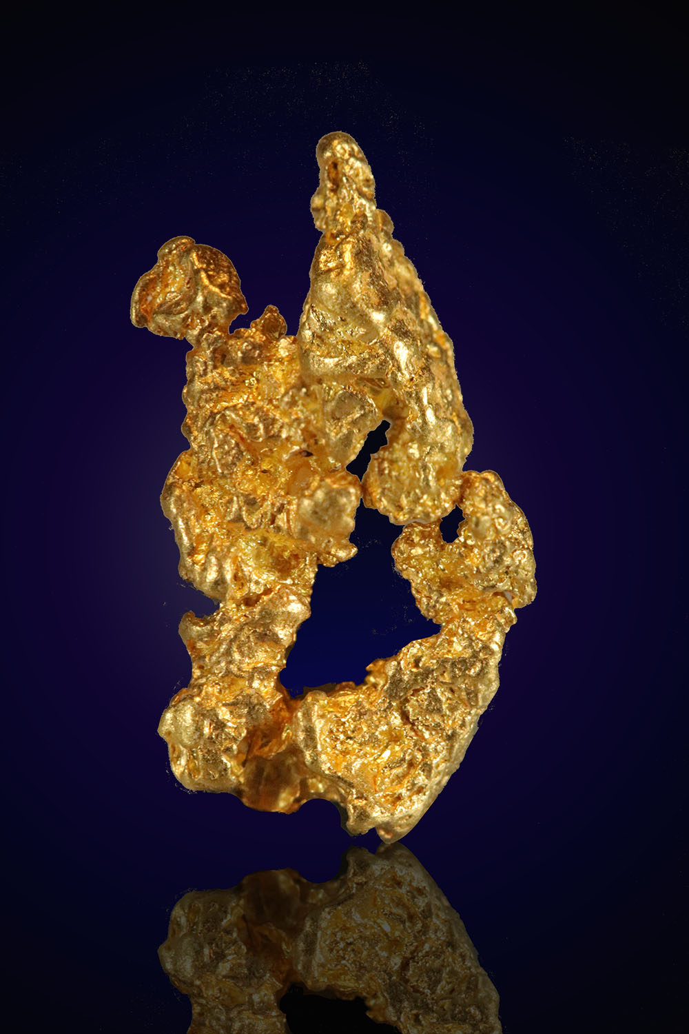 Natural Gold Nugget from Nevada - Unique Shape