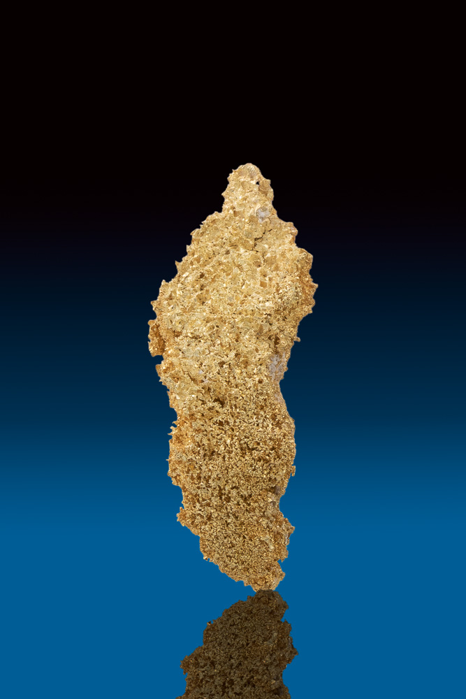 Beautiful Rare Elongated Sponge Gold Nugget - Ten Mile