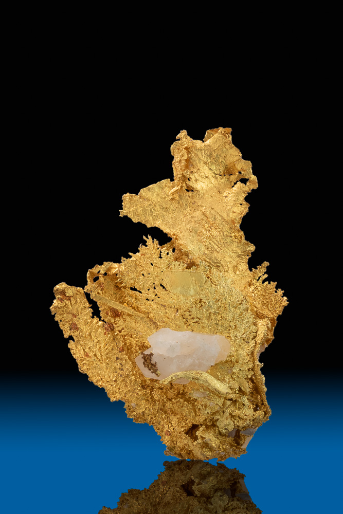 Dendritic, Wire, and Quartz - Brilliant Gold - Happy Camp, CA