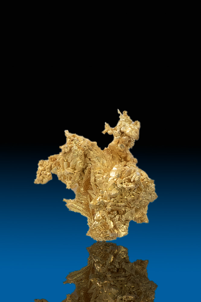 """StarFish"" Shaped Natural Gold Nugget Crystal - Round Mountain"