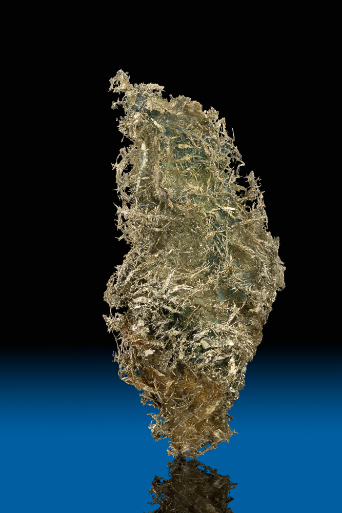 Like Nothing Else - Wire and Clay Gold Specimen -Olinghouse Mine