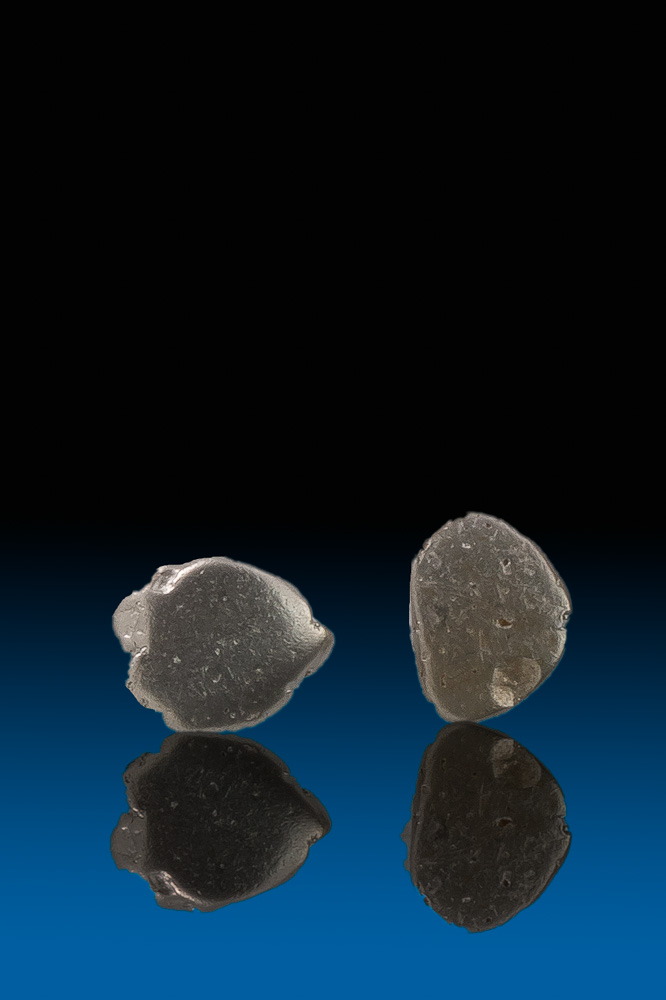 Two Smooth River Worn Platinum Nuggets - Columbia
