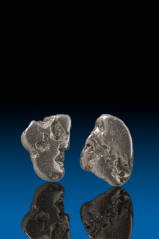 Two Well Shaped Platinum Nuggets - Extremely Rare