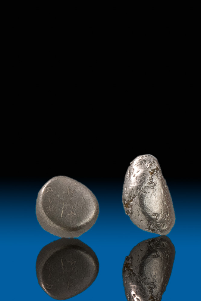 Two Smooth and Dense River Worn Platinum Nuggets - Columbia