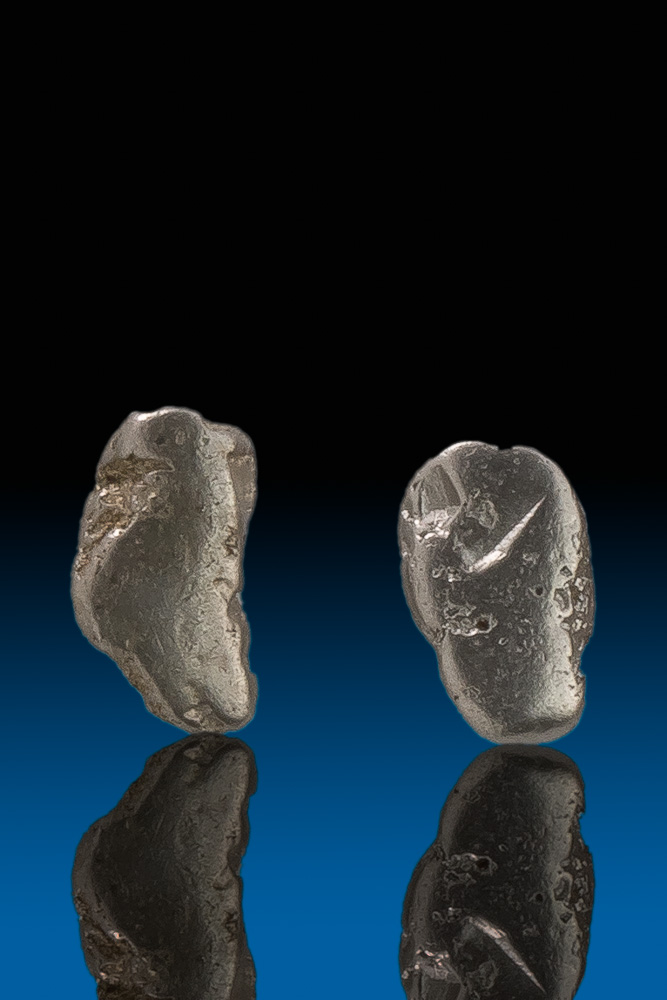 Two Oblong Natrual Platinum Nuggets - Extremely Rare