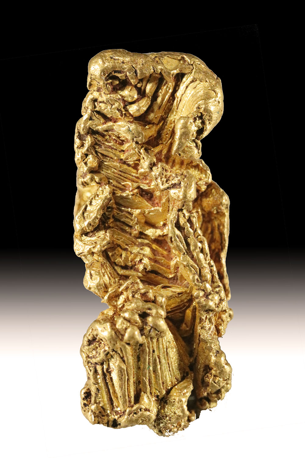 Very Rare Hoppered Alaskan Gold Nugget Crystal