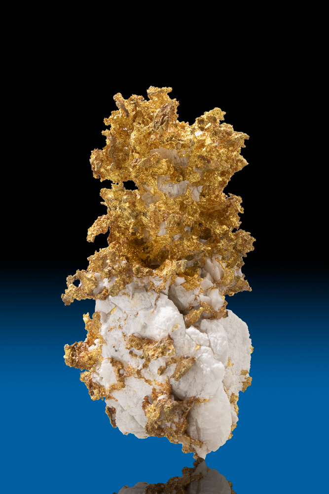 Brilliant Crystalline Gold Quartz from the Famous 16 to 1 Mine