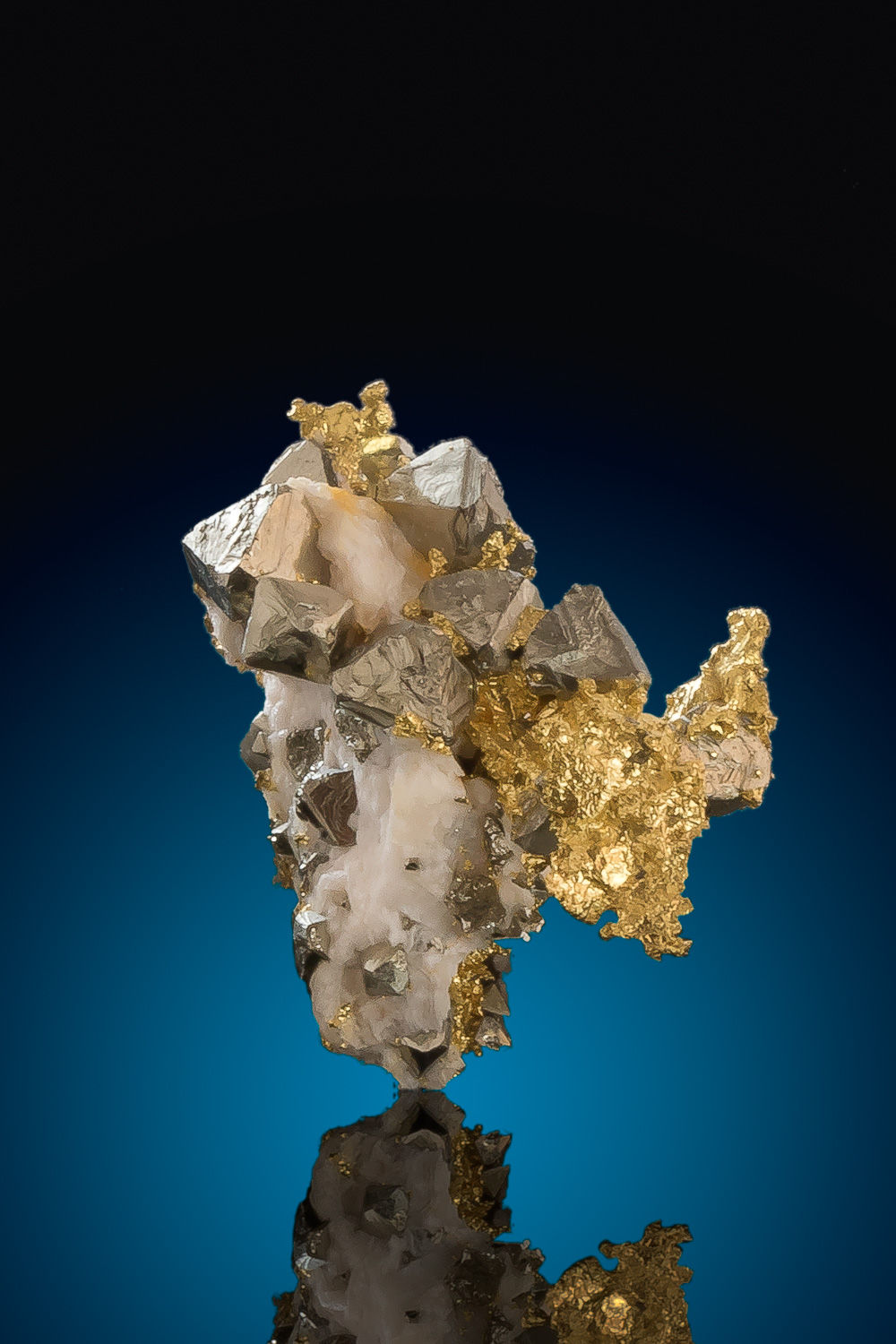 Fantastic and Rare - Crystalline Gold with Pyrite Crystals