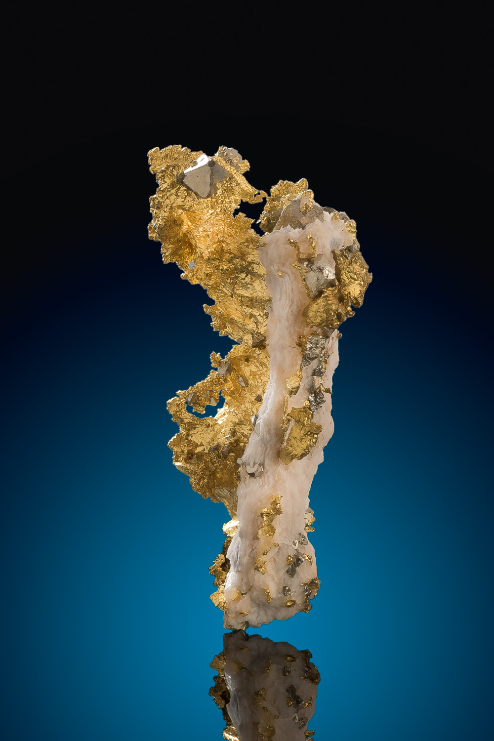 A Rare Specimen - Natural Gold with Pyrite crystals