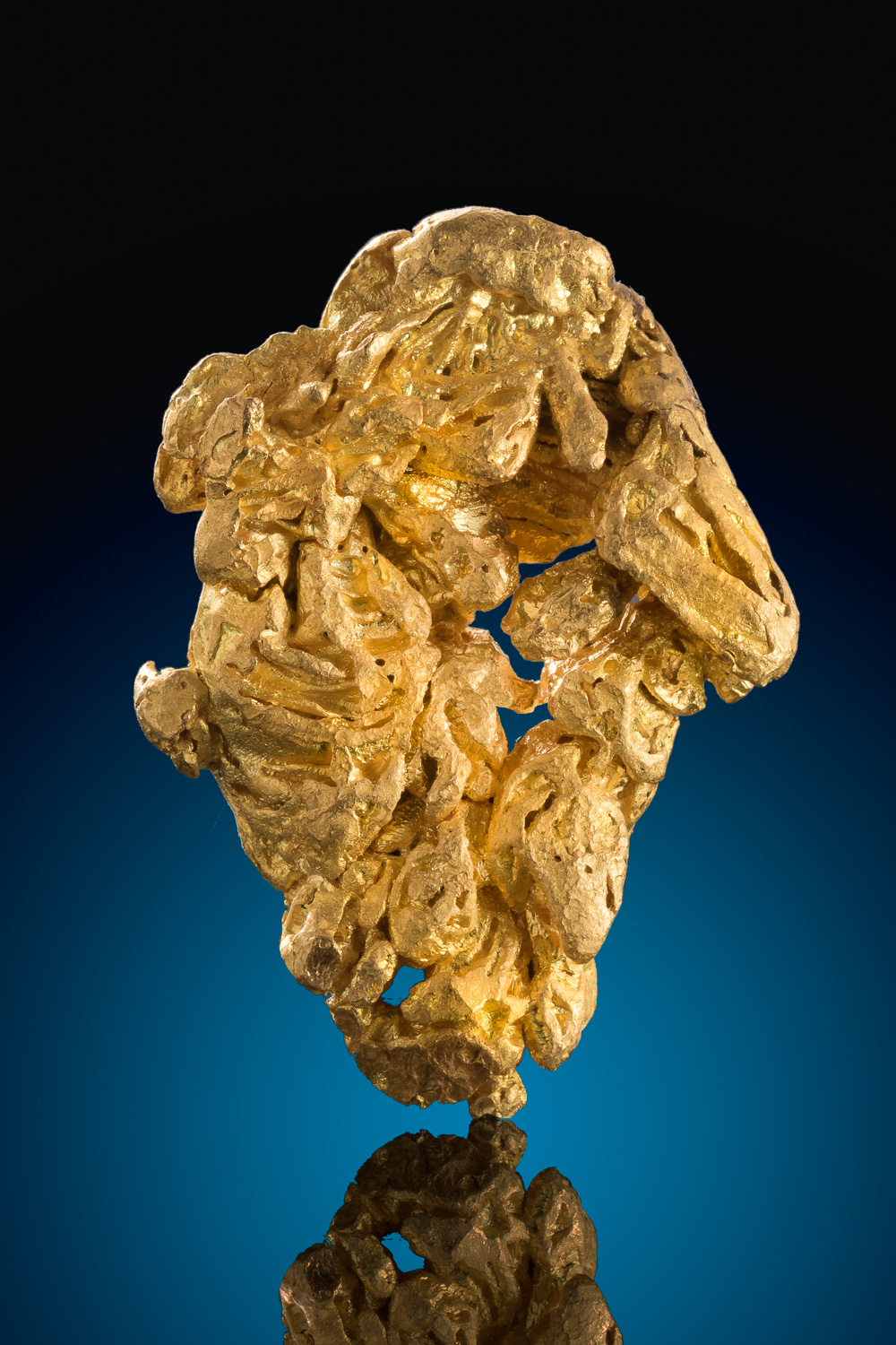 Large and Intricate Gold Nugget Crystal - Alta Floresta, Brazil