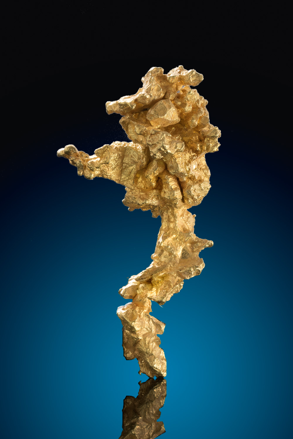 Long and Tapered - Sharp Gold Crystal Nugget from Mariposa
