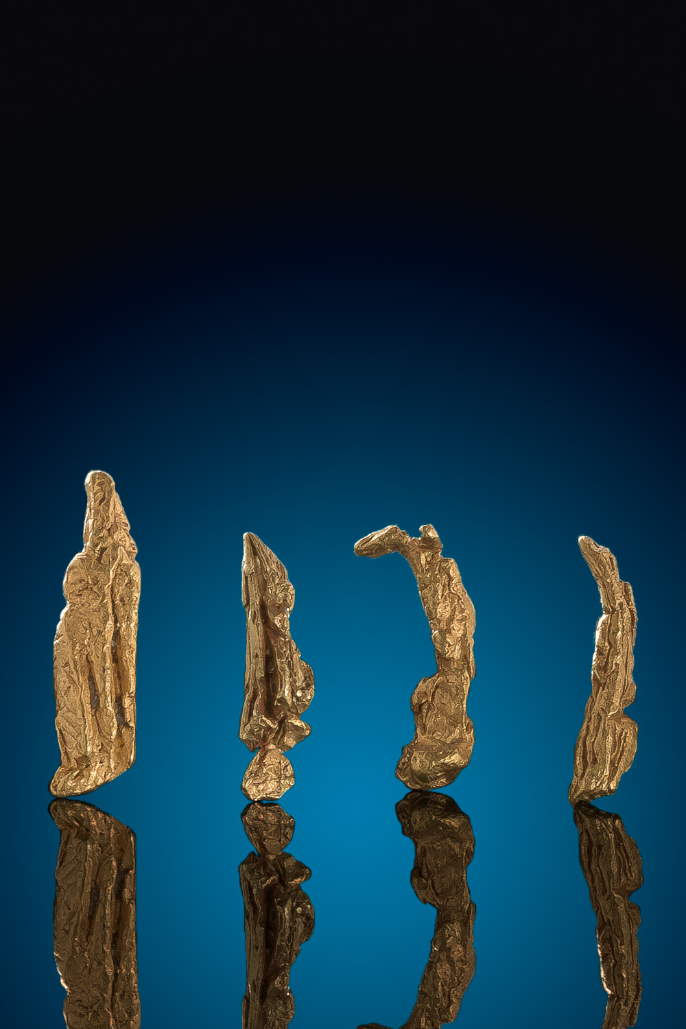 Four Wire Gold Nugget Specimens - Bradshaw Mountains, Arizona
