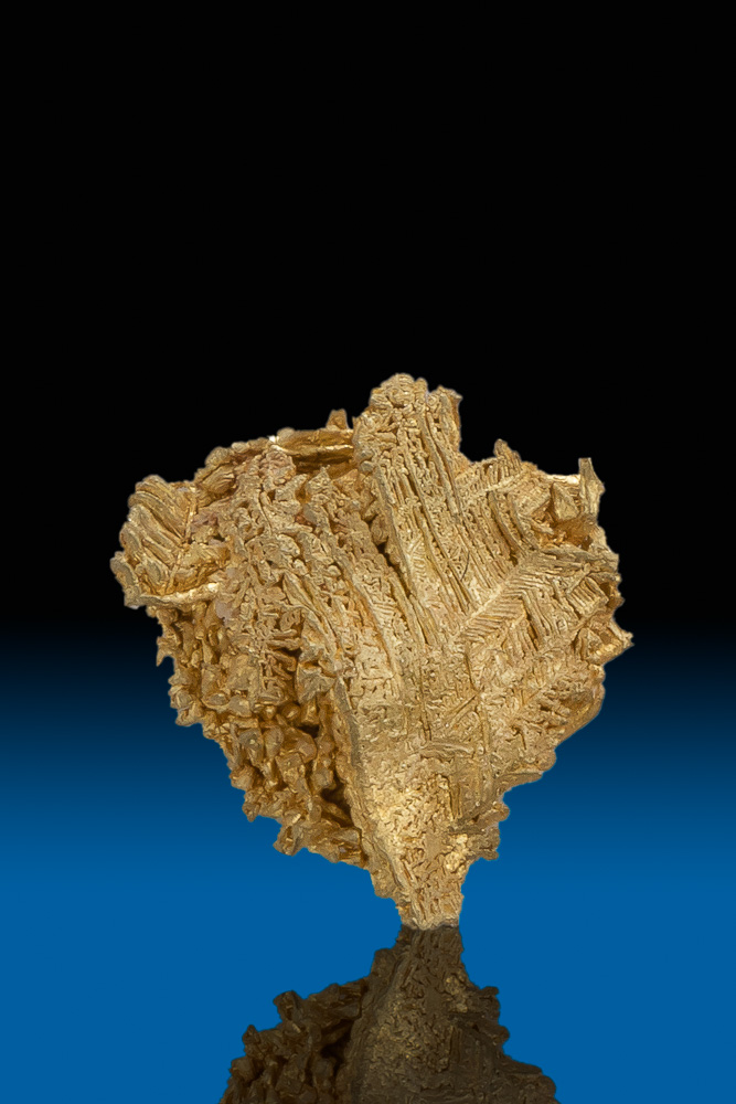Beautiful Herringbone Wire Gold Nugget Specimen - Nevada