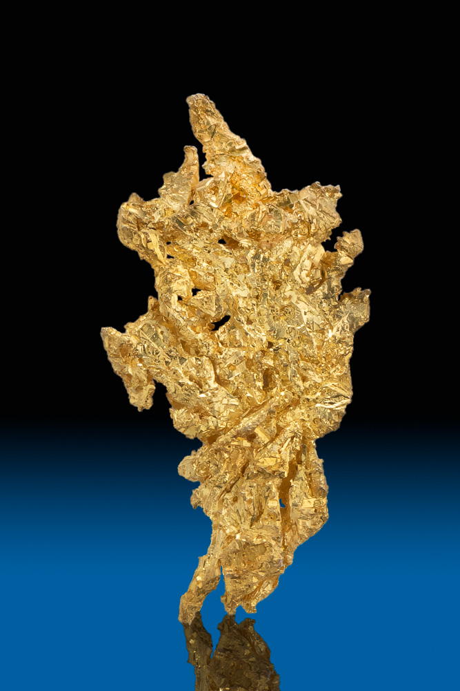 Brilliant Color - Triangular Gold Crystal from Eagles Nest Mine