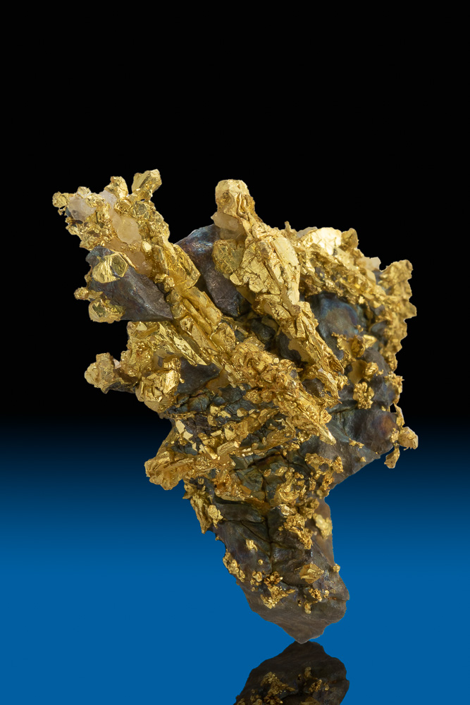 My Best Gold and Arsenopyrite Specimen - Oriental Gold Mine, CA