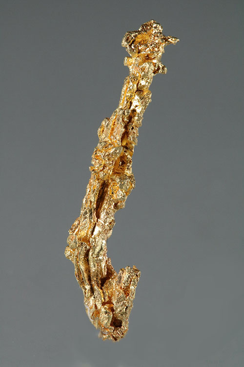 Elongated Crystal Form - Round Mountain Gold Specimen