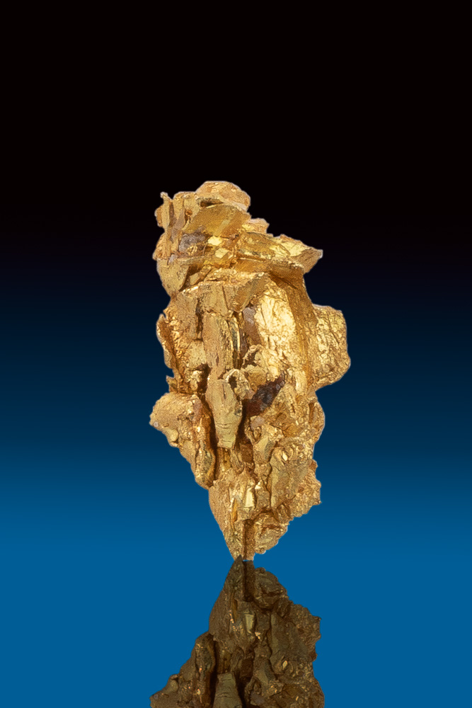 Sharp Faceted Crystal Gold Nugget from Round Mountain