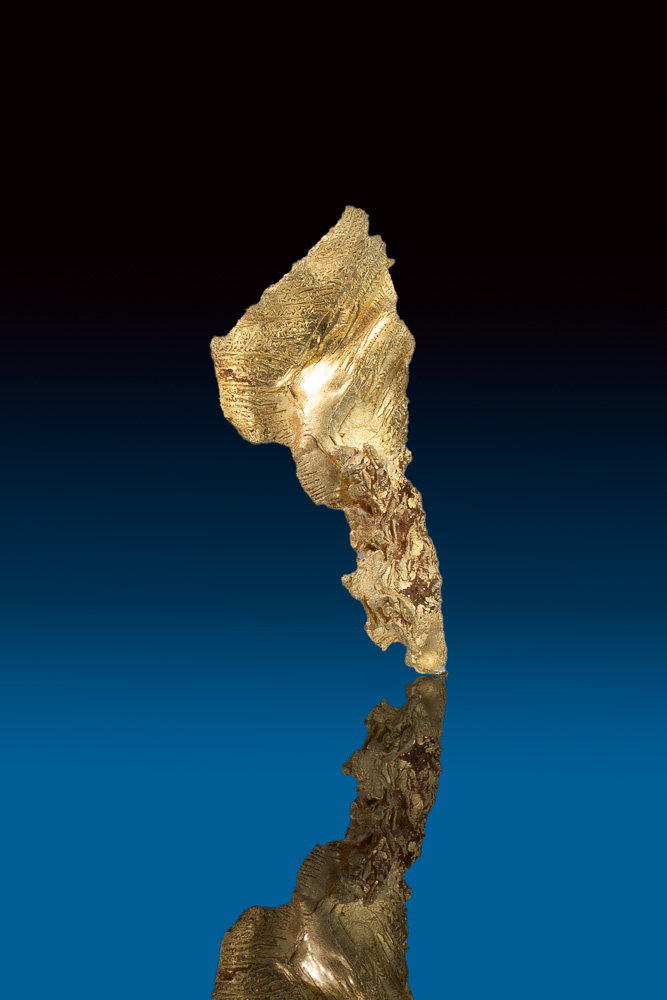 Long Herringbone Gold Nugget Crystal Specimen - Nevada - Click Image to Close