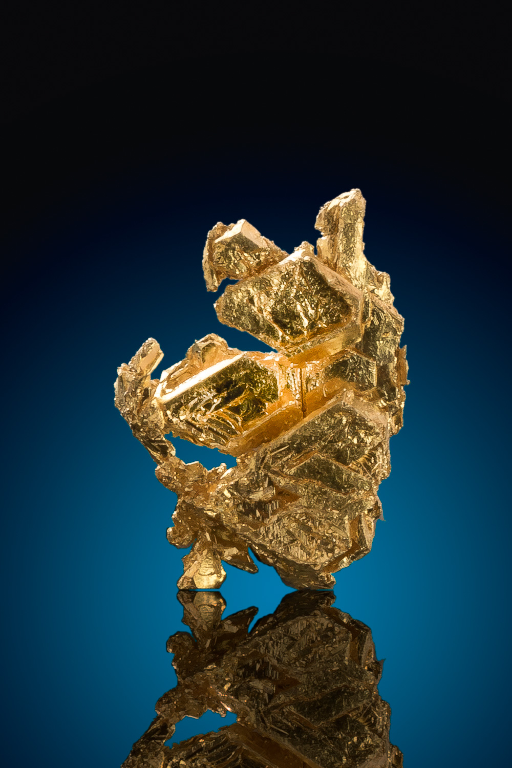 Trigon Gold Crystal Specimen - Round Mountain Gold Mine