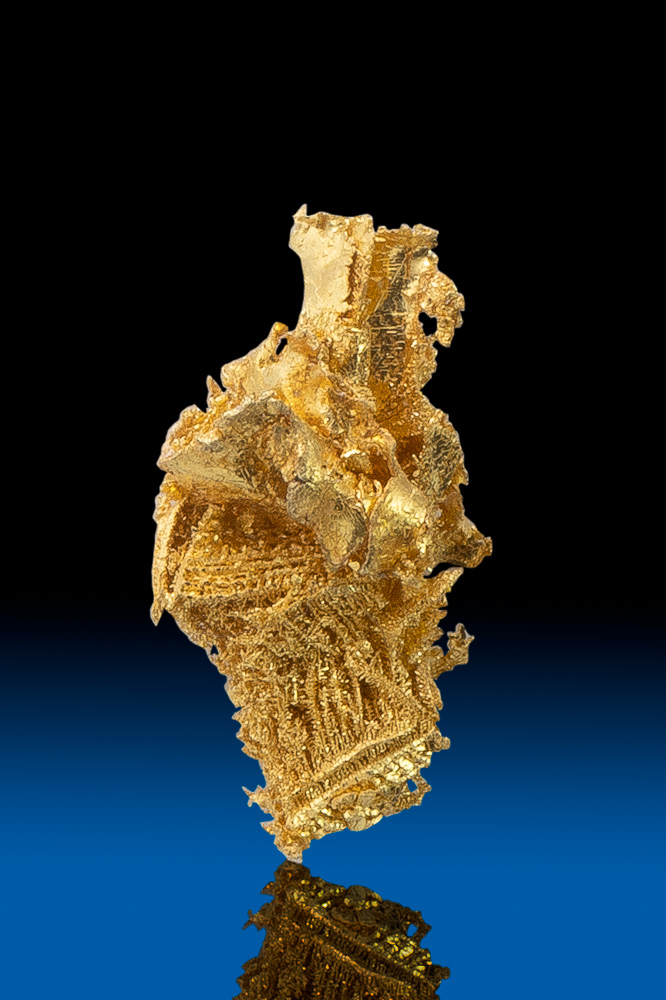 Leaf and Wire Gold Specimen - Round Mountain Gold Mine