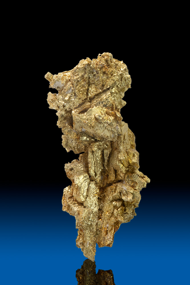 Elongated and Chunky Natural Gold Crystal - Round Mtn., NV