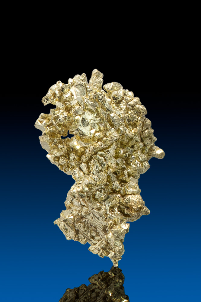 Octahedron Cluster - Natural Gold Crystal from Round Mtn., NV
