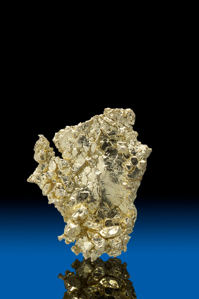 Mirror Shine - Electrum Leaf Gold Crystal from Round Mountain