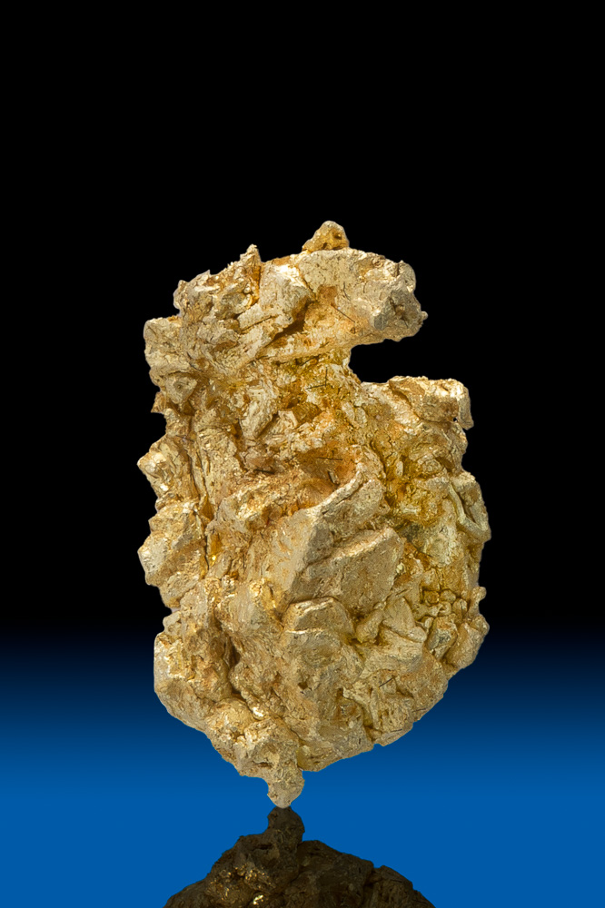 Chunky Well Formed Gold Crystal Specimen - Round Mtn., NV