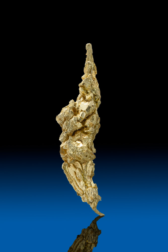 Elongated and Sharp - Natural Gold Crystal from Round Mtn., NV