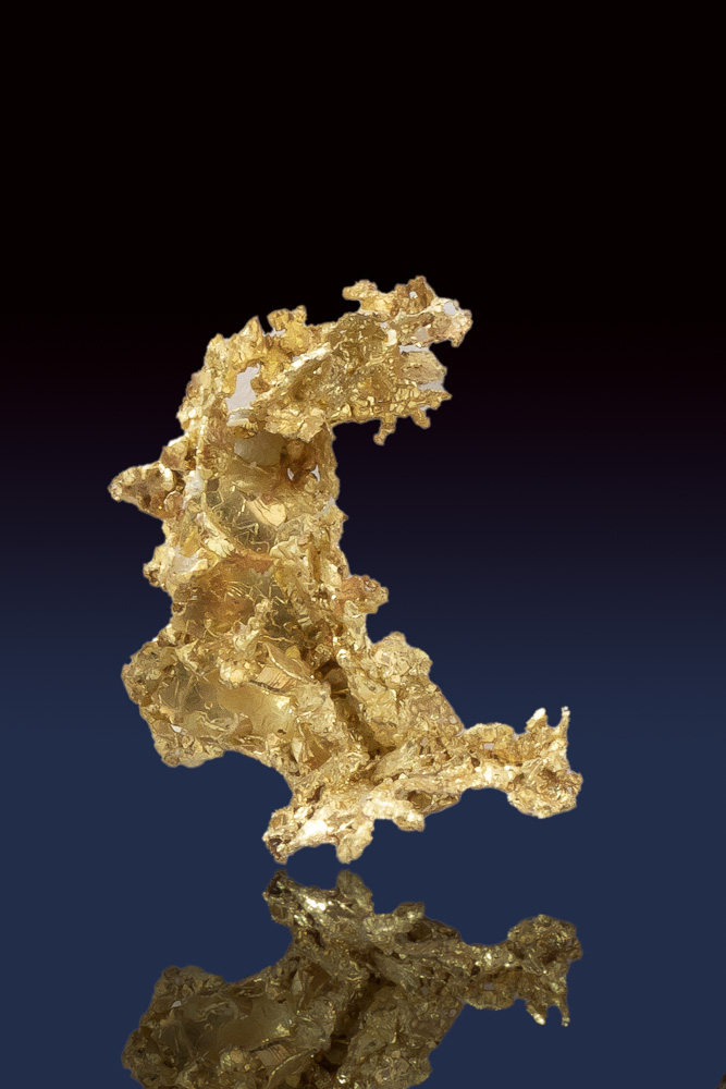 Shiny Lace-Like Crystalline Gold from the Allegheny
