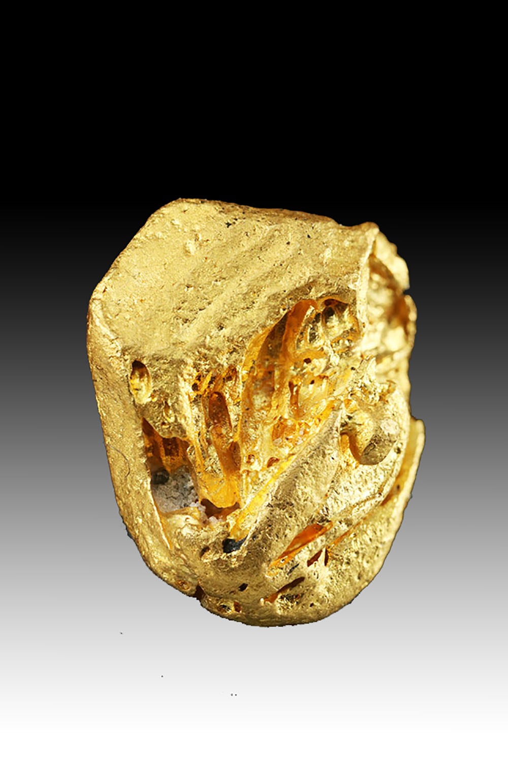 Hoppered Gold Nugget Crystal from Venezuela