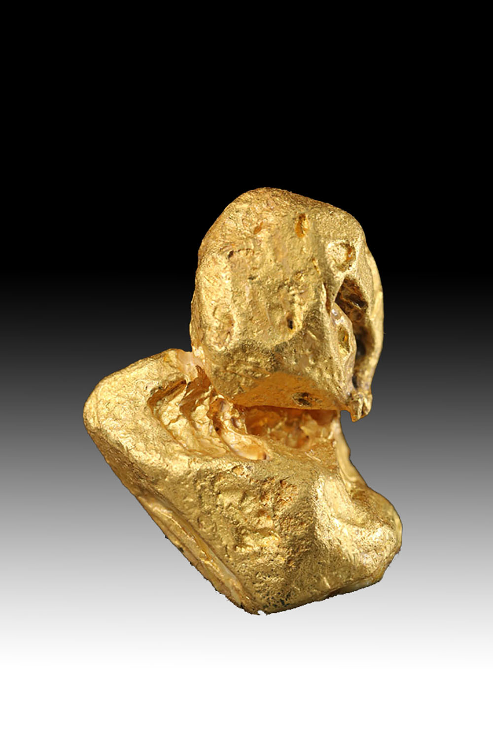 Brilliant Double Gold Crystal - Venezuelan Gold Nugget