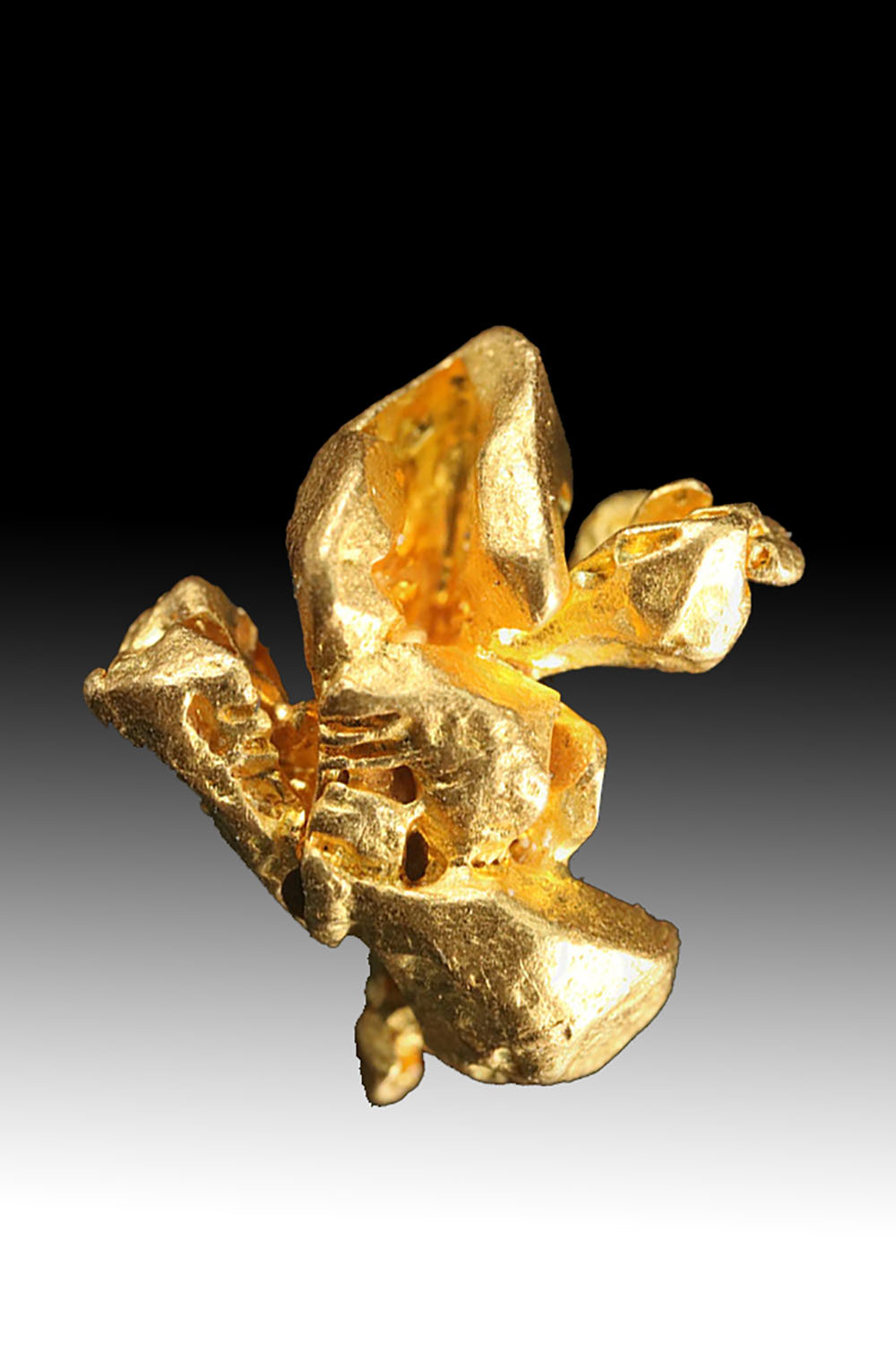 Gold Crystal From Venezuela - Outstanding Form
