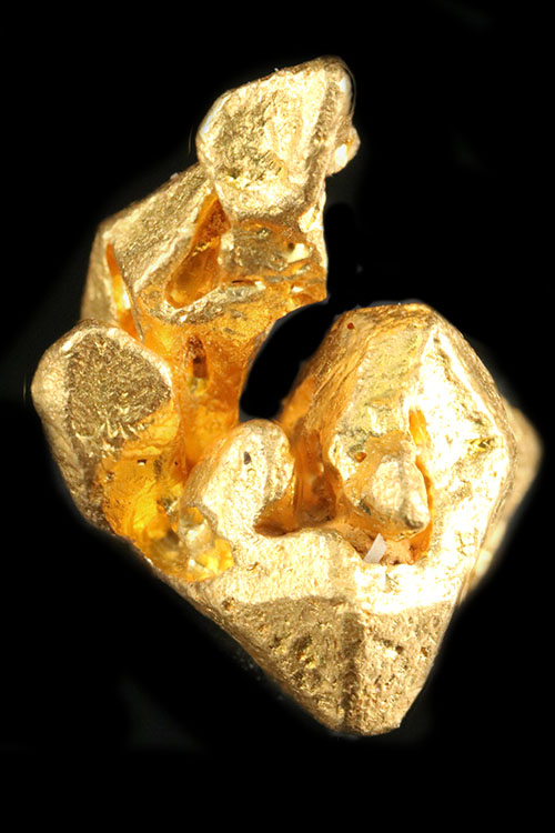 Remarkably Faceted Gold Crystal From Venezuela - Click Image to Close