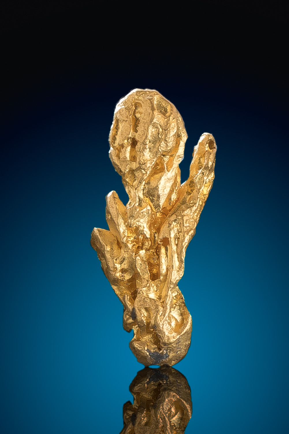 Elongated Brilliant Gold Nugget Crystal from venezuela