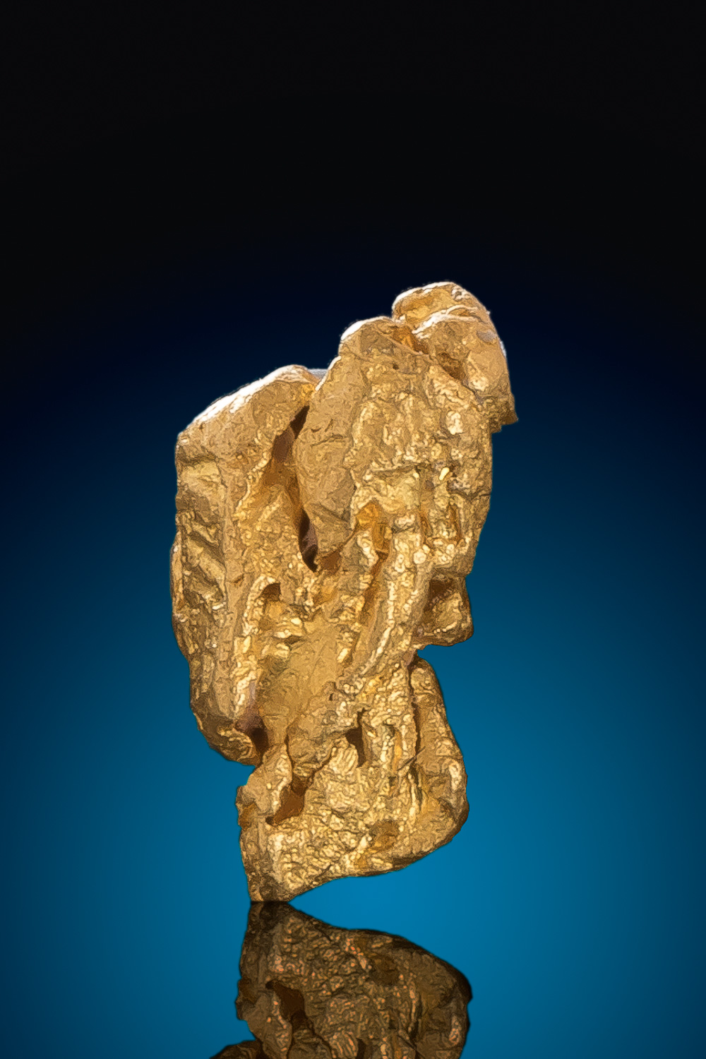 Elongated Gold Nugget Crystal from Venezuela