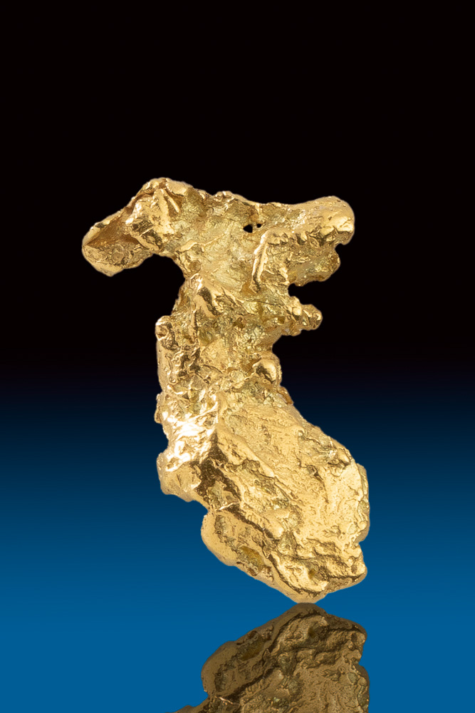 Uniquely Shaped Elongated Yukon Natural Gold Nugget