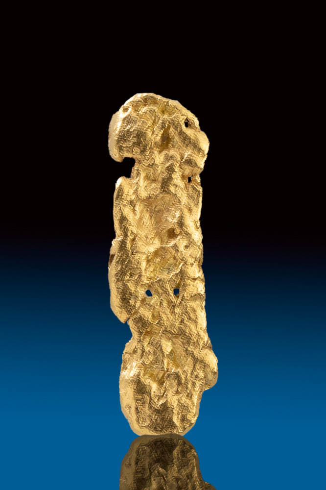Long Textured Natural Yukon Gold Nugget