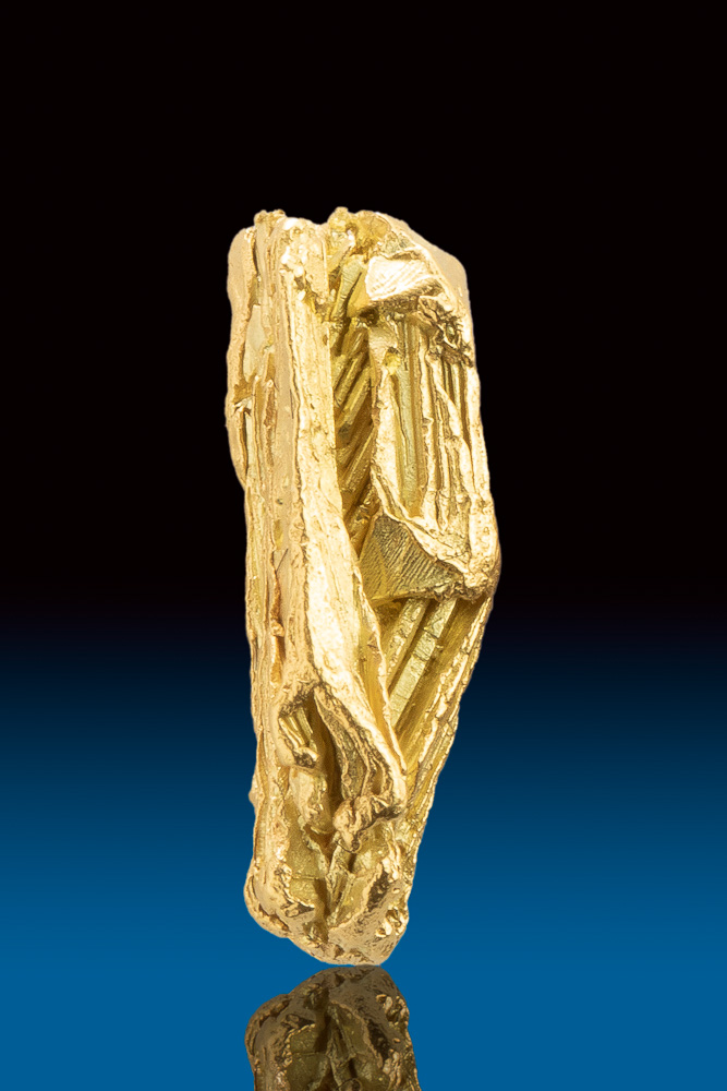 Brilliant Dimensional and Striated -Gold Specimen from the Yukon