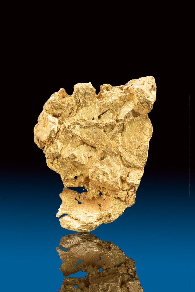 Overlapping Leaf Gold Specimen - Yukon Territory - Click Image to Close
