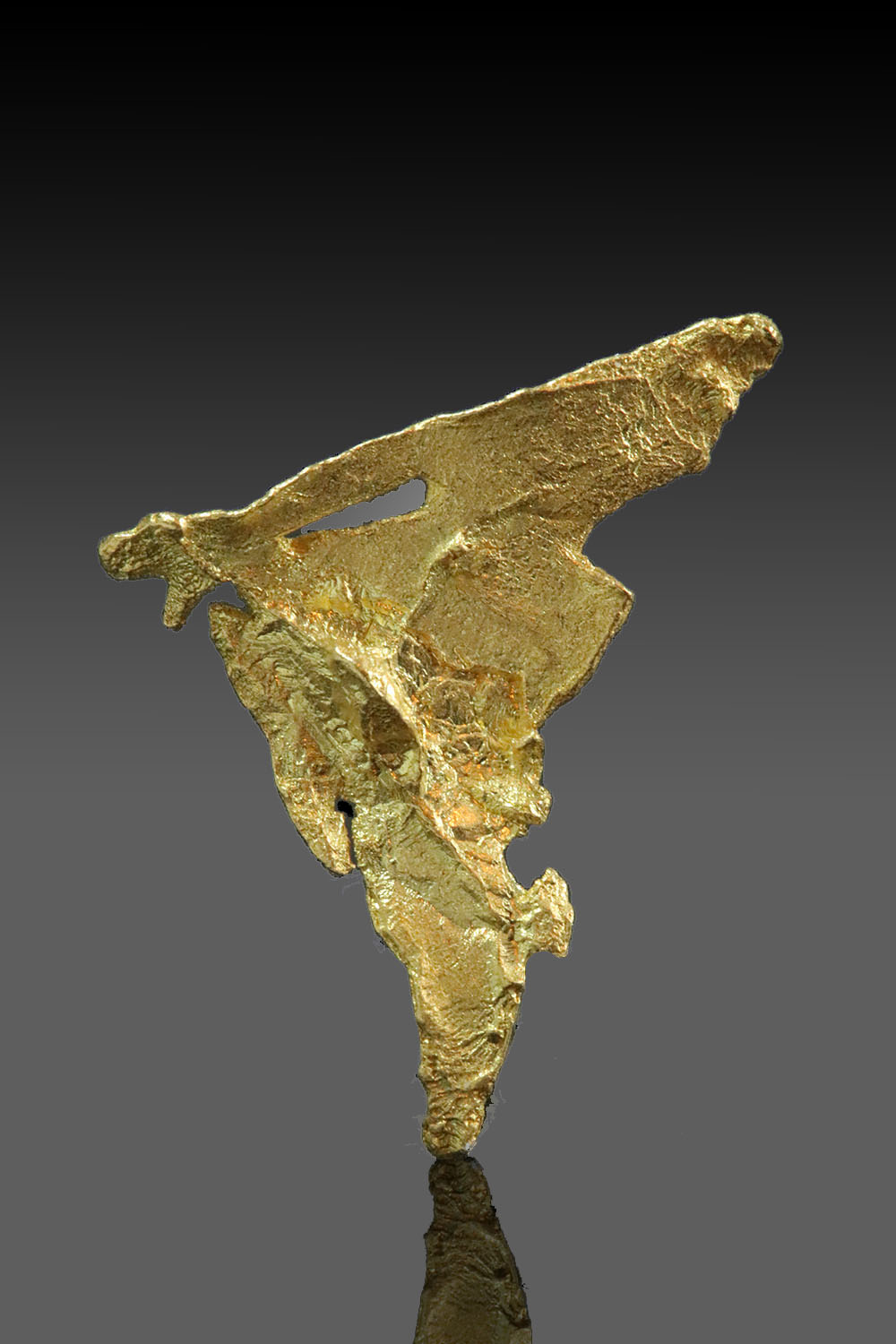 Intricate Triangular Gold Specimen from the Yukon