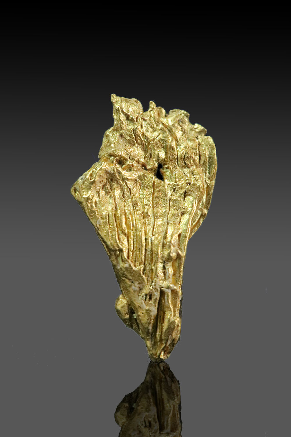 Tappered with Striations - Yukon Gold Nugget Specimen