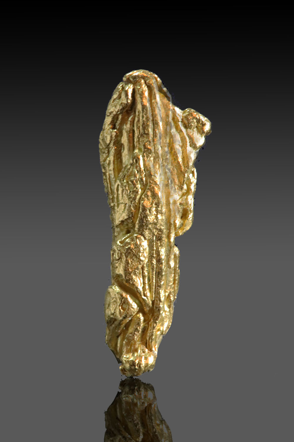 Striated Pillar - Gold Crystal from the Yukon