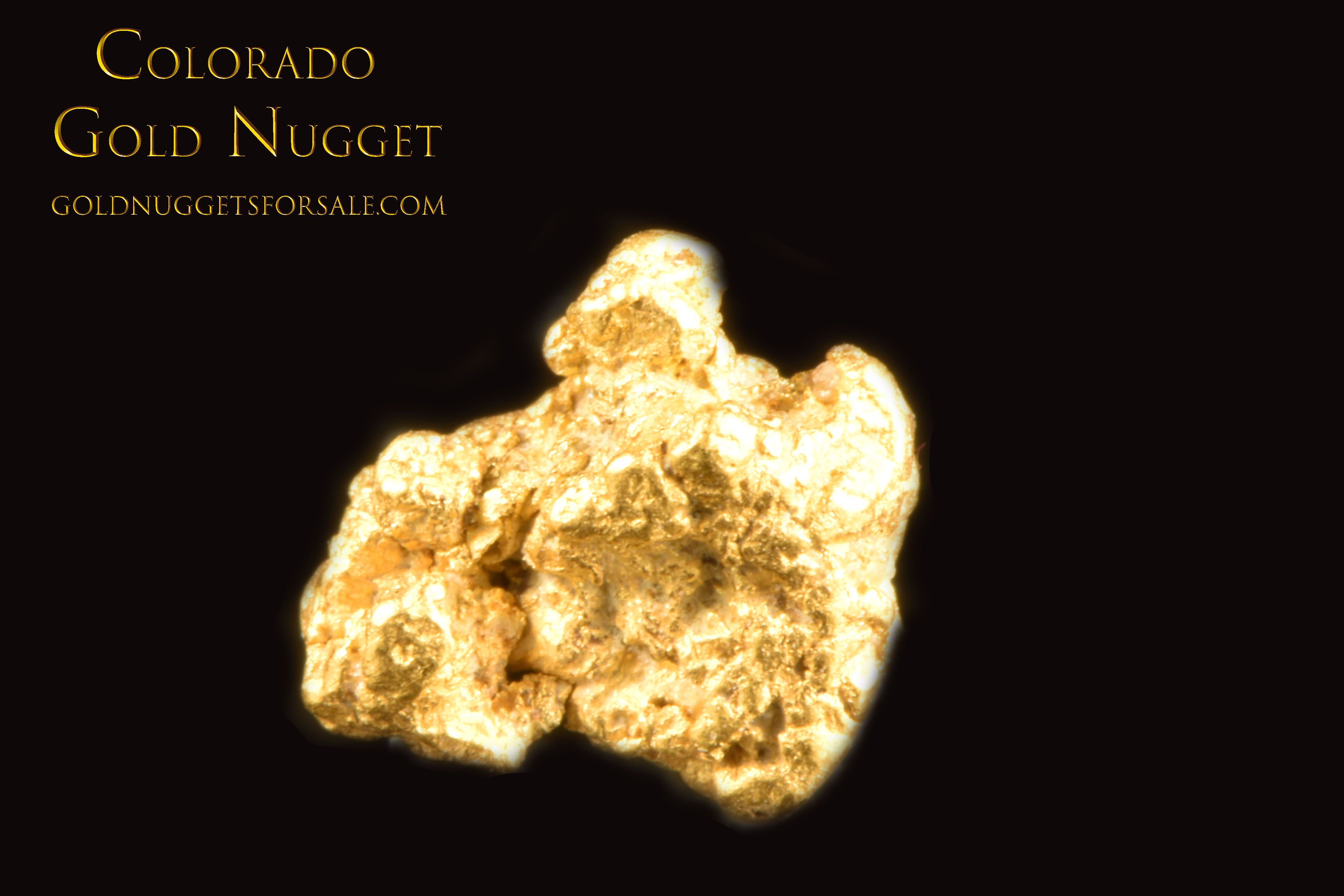 Great Price on this Raw Colorado Gold Nugget - Click Image to Close