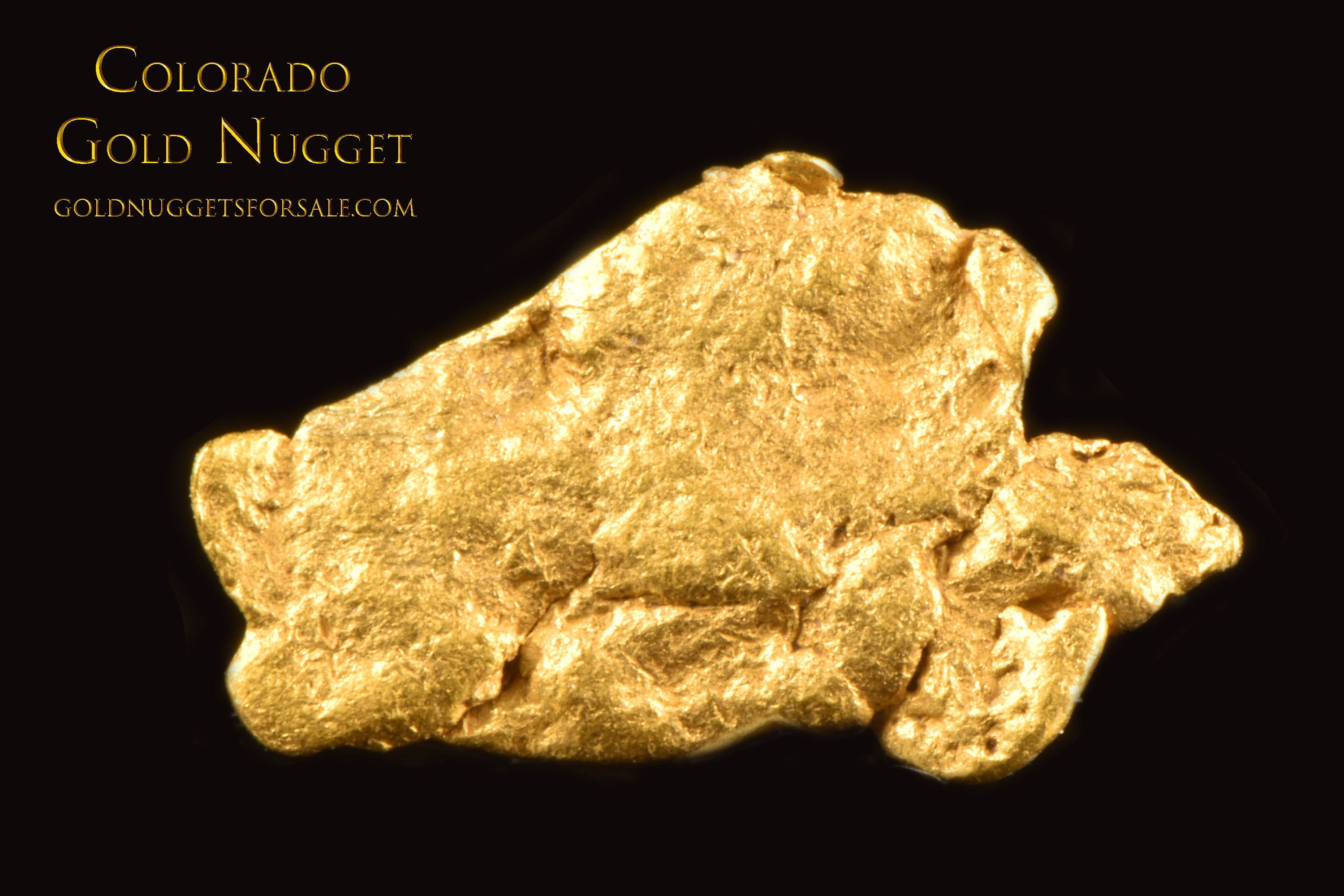 Wonderful Flat Colorado Gold Nugget