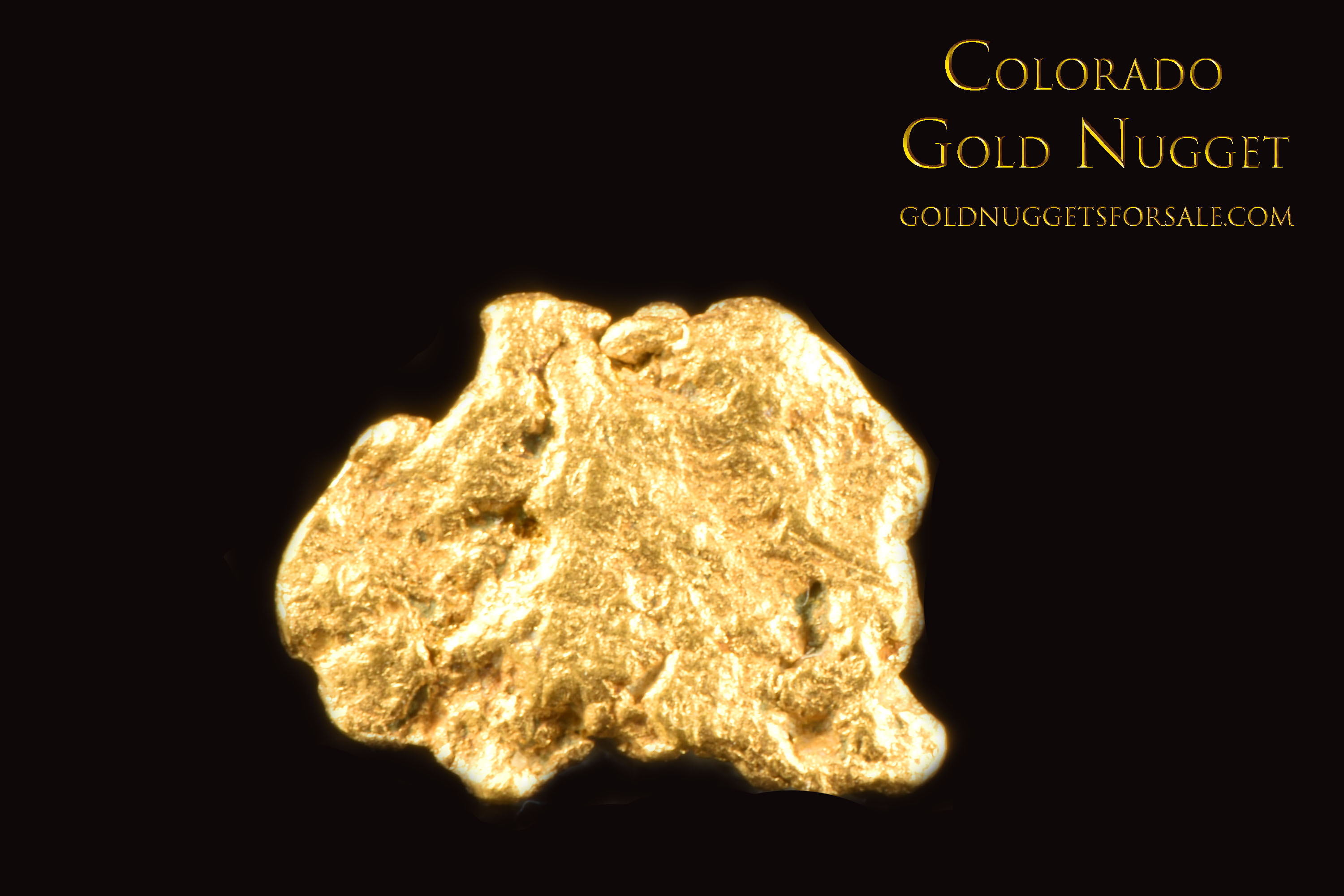 Wonderful Thin Gold Nugget from Colorado